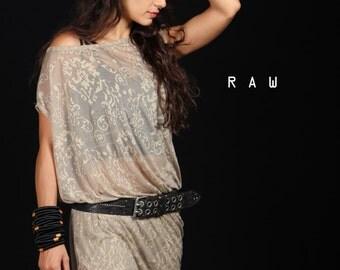 Transparent dress / summer loose dress / printed dress/ free size women dress / oversize loose dress