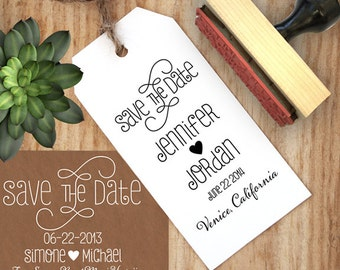 Swirly Save the Date Stamp, DIY Save the Date, DYI Wedding, Wedding Stamp