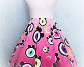 The Eyes Have It Creepy Cute Eyeballs Skater Skirt Fairy Kei Pastel Goth Kawaii