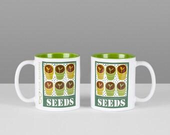 Seeds mug with green interior