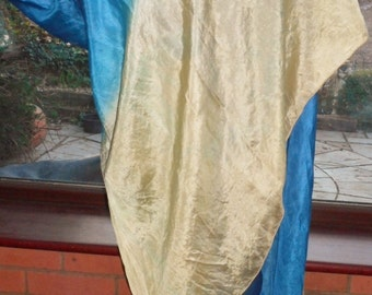 soft vintage silk large flowing dip dyed veil/wrap scarf bellydance veil