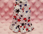 MyDollOutfits Doll Skirt - Red, White & Blue Stars print Ruffled Skirt. (Skirt Only)