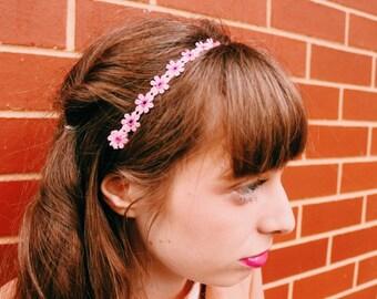 Polyester Sunflower Violet Headband, Victorian Elegant Style Hair Accessories,Festival Headband, Flower Hair Accessory, wedding Headband