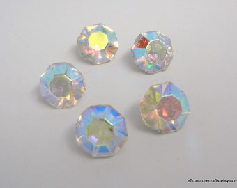 SALE - Vintage Czech Precosia Crystal Titania AB Rhinestone / Chatons Size 29SS / 6.2mm (15)