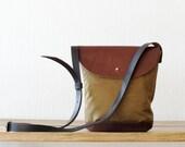 Crossbody Bag Small, Crossbody Bag and Purse, Shoulder Bag Purse, Crossbody Purse, Waxed Canvas bag, Canvas satchel