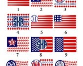 Baseball American Flag Monograms, Decals, DIY Iron Ons, T-Shirt Transfer, Car Decal, Helmet Decal