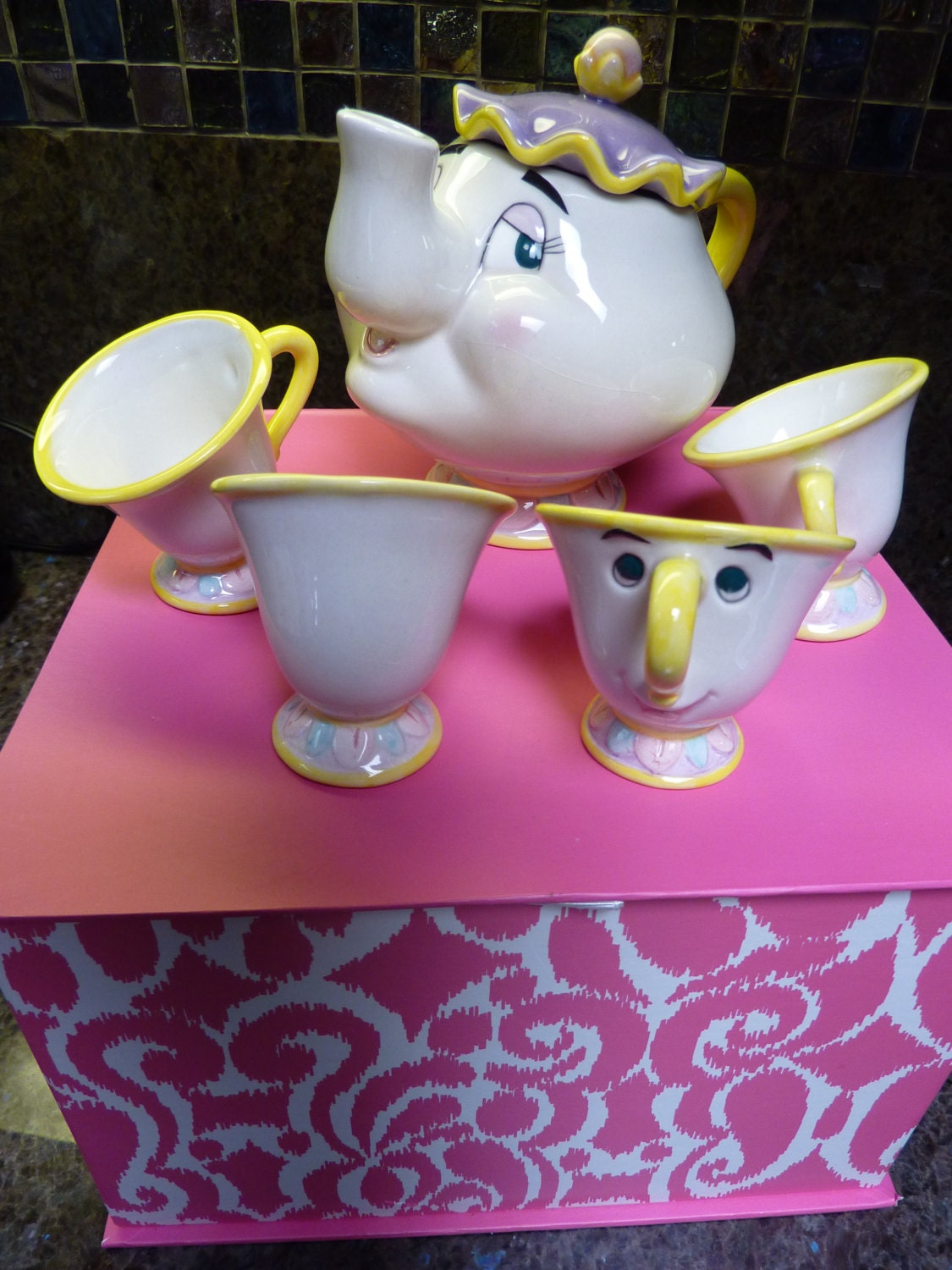 Disney Beauty And The Beast Tea Set Retired No By