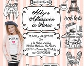 Paris Party Personalized Invitation - with photo