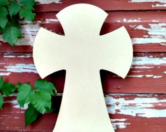Unfinished MDF Wooden Cross #9