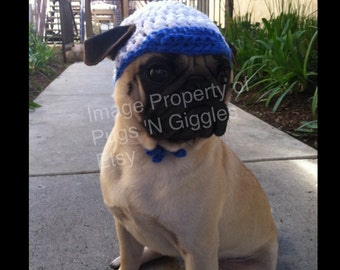 Pugs-Baseball Hat for Dogs-Pet Hats-Pugs In Hats-Crochet Dog Hats-Pug-Sport Hats For Dogs-Puglife