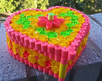 quilled heart box