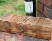 Rustic Wedding Wine Box - Wine Capsule - Wedding Capsule - Rustic Wedding - Rustic Wedding Wine Box Gift - Lockable Wine Box - Wedding Gift