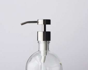 Moon Round Recycled Glass Soap Dispensers - Clear