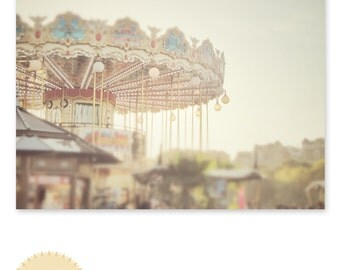 Carousel / Paris / Travel / Architecture / French / Photography Print / typography / Home Decor sizing options 4x6, 5x7 or 8x10