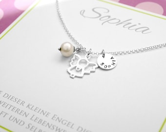 925 sterling silver chain with Angel - engraving