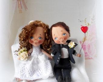 Wedding dolls,Personalized Wedding Decor, Wedding doll,Mr and Mrs,bride and groom doll