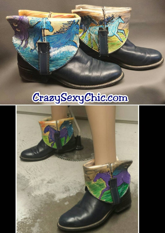 Hand Painted Boots from Crazy Sexy Chic