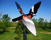 Baltimore Oriole Whirligig - Yard Ornament - Brightly Colored - Hand Crafted