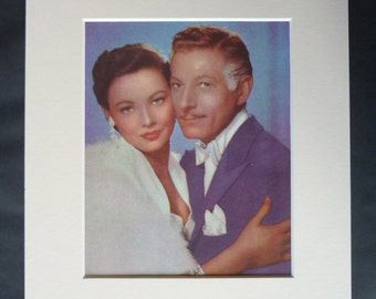 1950s Antique Hollywood Print, Movie Star Portrait, Danny Kaye, Old Film Wall Art, Available Framed, Hollywood Art, Gene Tierney, Film Gift