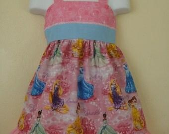 Girls princess birthday party  halter dress 2T