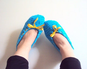 Crochet Slippers Crochet Flats Soft and Comfortable Indoor Shoes House Shoes Spa Slippers