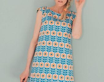 "A line dress ""STOCKHOLM"" salmon blue"
