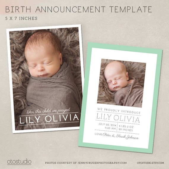 birth announcement card template simple frame cb011 psd. Black Bedroom Furniture Sets. Home Design Ideas