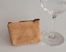 cork bag, eco freindly bag, cork pouch, cork purse, wine cork crafts, cork coin purse