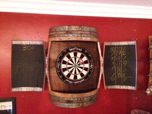 Wine Barrel Dartboard Cabinet