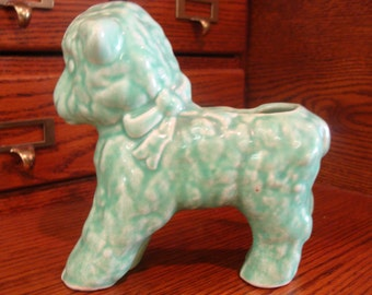 Vintage Mccoy Green Lamb