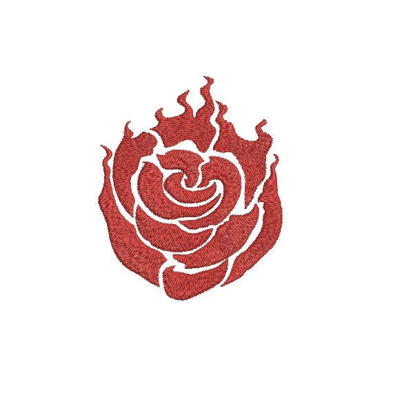 Machine Embroidery Design Instant Download Rose RWBY Ruby