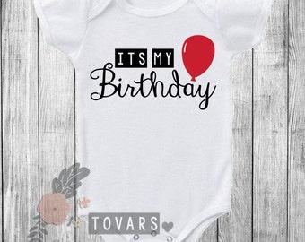 birthday shirt boy, 1st birthday shirt, first birthday, first birthday shirt, 1st birthday outfit, boy birthday shirt, Red birthday balloon