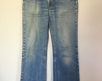 1970s Orange Tab 517 Levis perfectly distressed