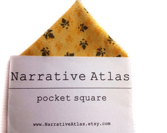 Pocket Square - Marigold Floral Impressions - Garden Collection