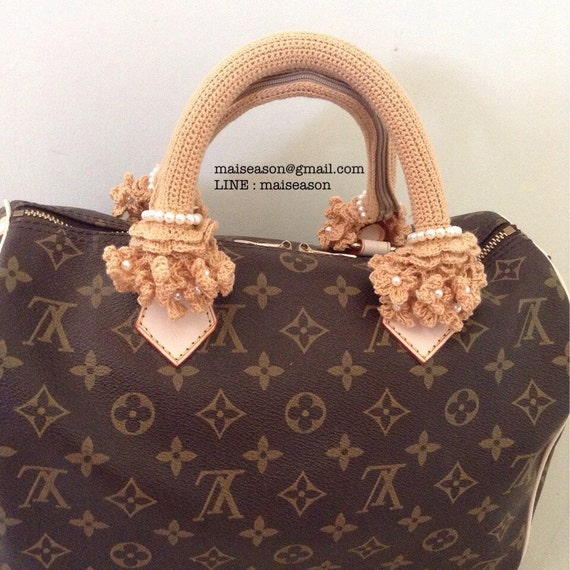 Crochet Bag Handle Cover Pattern : Bag Handle. Crochet Handle Cover for louis vuitton SPEEDY.