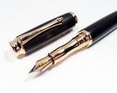Handmade Macassar Ebony Wood Fountain Pen