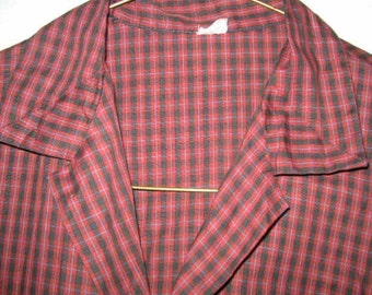 Vintage checked cotton blouse