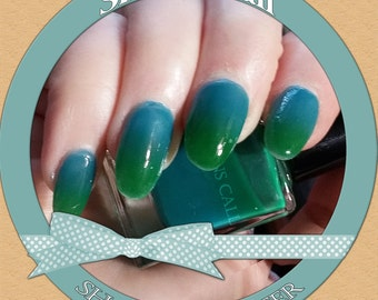 Shallow Water - Thermal blue to green color changing nail polish