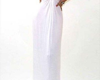 Deep V-Neck Maxi - (Ivory or Brown)