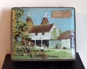 Vintage English Toffee Candy Tin- Grigg Farm Headcorn Kent- Edward Sharp & Sons Ltd- By Appt To The Late King George VI