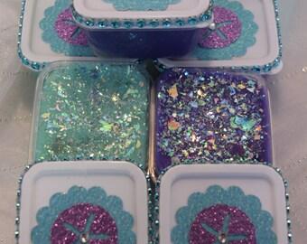 Little Mermaid Party Favor Play Doh 5 boxes, Ariel Treat Box Play Dough, Under the Sea Party Favor, Treat Bag, Favor Bag, Ariel Birthday
