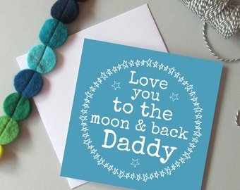 Daddy card - Father's day card for Daddy - Card for Daddy - Daddy Birthday card - Birthday card for Dad or Daddy - Love Daddy card