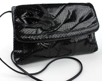 Black Bird Vintage Snakeskin Purse or Clutch