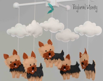 Yorkie Mobile - Yorkshire Terrier Mobile - Custom Mobile (not ready made) - Ships in 4-6 Weeks