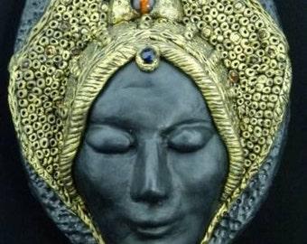 Fortune teller -  Wall Art Mask, Wall Mask Sculpture,  OOAK Wall Decor