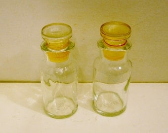 Glass Mini Storage Bottle with Glass Stopper 4 Inches by Wagner