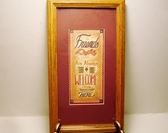 """Friendship Plaque """"Friends Are Always Welcome Here"""" by RB"""