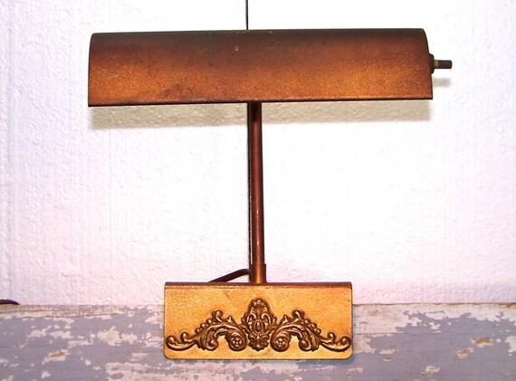 Bronze Metal Lamp Headboard Reading Lamp Clamp On Art Decor