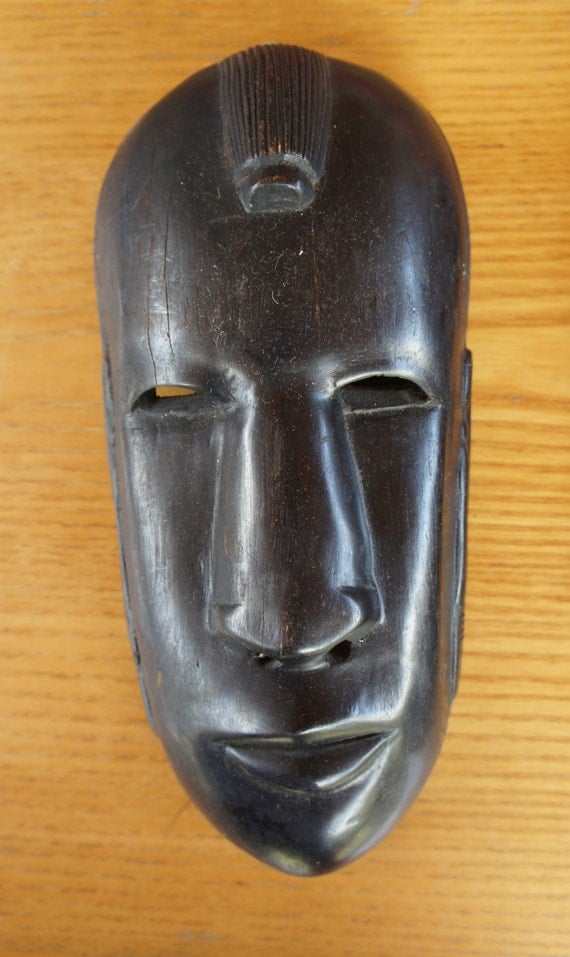 African face mask art hand carved by mountainforgery