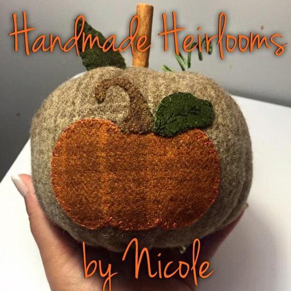 Wool applique pumpkin using motif by under the garden for Under the garden moon
